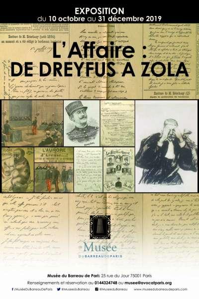 Affichage publicitaire de l'exposition de l'affaire Dreyfus