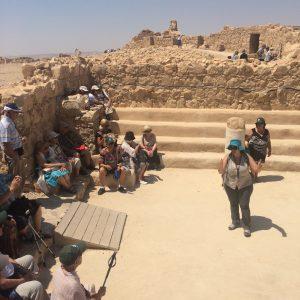 Groupe de voyageurs en Israël