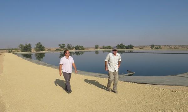réservoir d'eau dans le Néguev